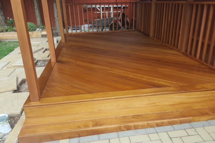 Infinity Carpentry & Building | Horley - Crawley & Gatwick Garden Iroko Decking and Pergola Hardwood Floor
