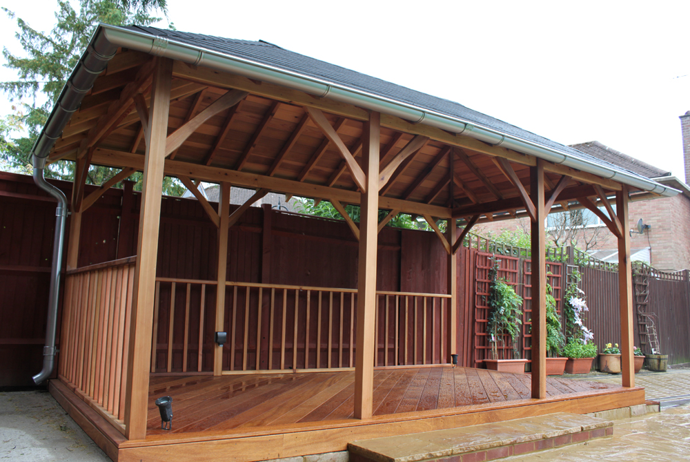IInfinity Carpentry & Building | Horley - Crawley & Gatwick Garden Iroko Decking and Pergola