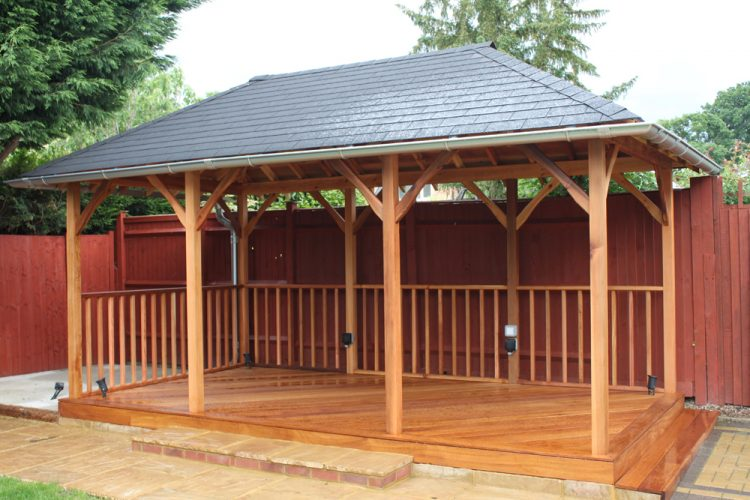Infinity Carpentry & Building | Horley - Crawley & Gatwick Garden Iroko Decking and Pergola